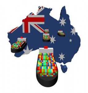 freight to and from australia